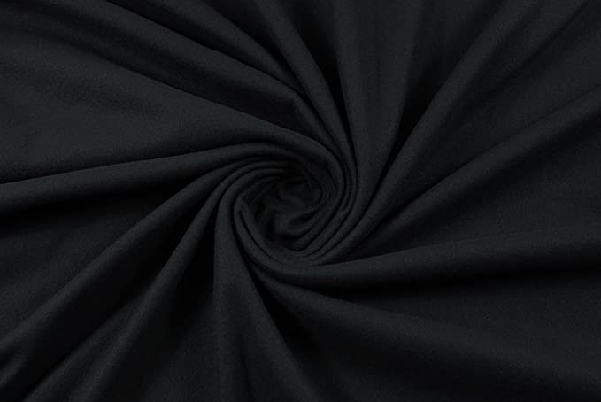 LAFAB Tessuto al Metro: Felpa Calda 100% Cotone Nera: Amazon