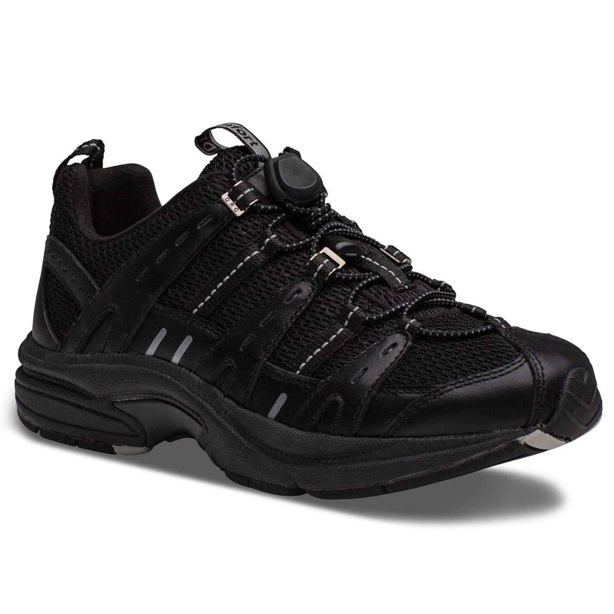 Dr. Comfort Refresh Women's Therapeutic Diabetic Extra Depth Shoe: Black/Black 9 Wide (C-D) by Dr. Comfort