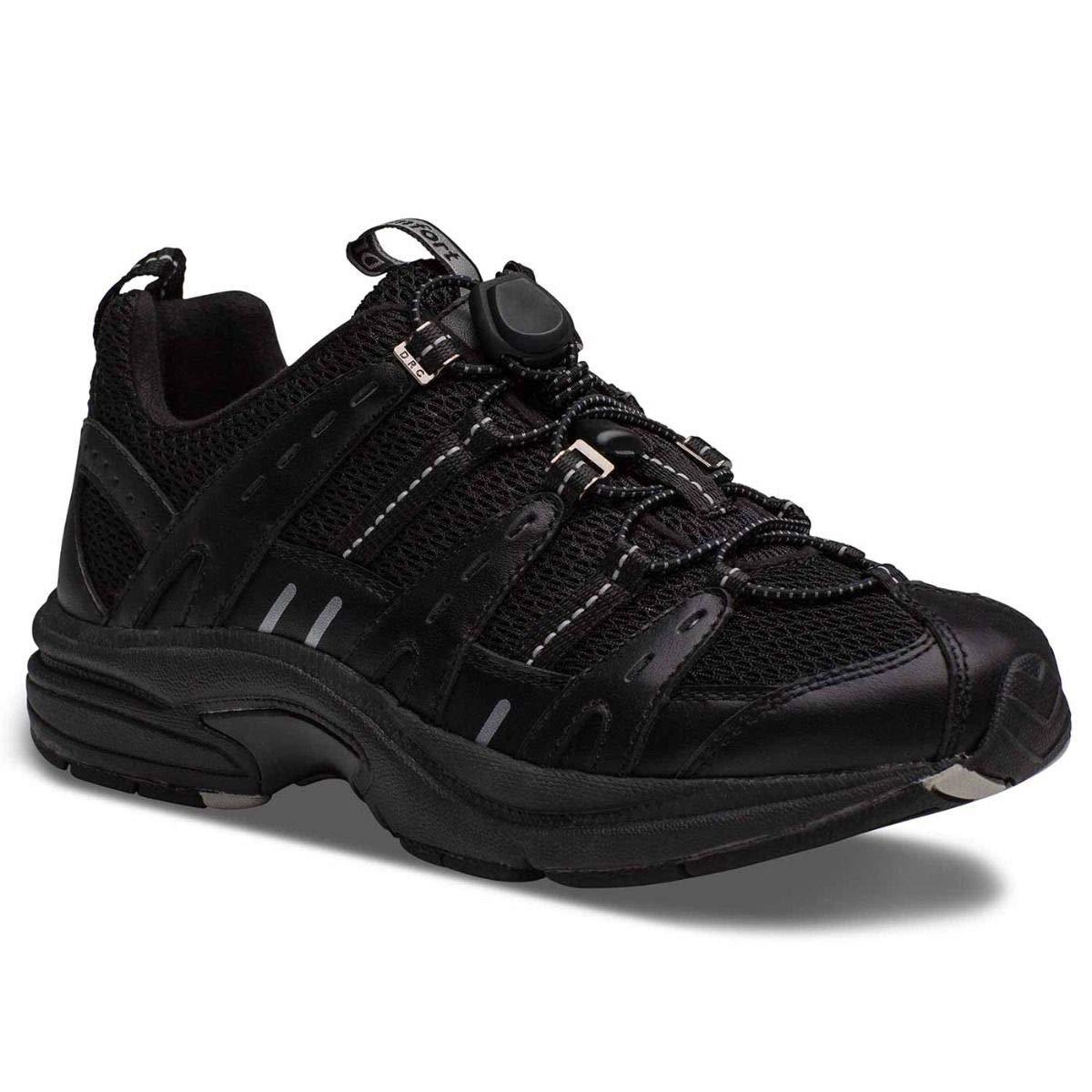Dr. Comfort Refresh Women's Therapeutic Diabetic Extra Depth Shoe: Black/Black 9.5 Wide (C-D)