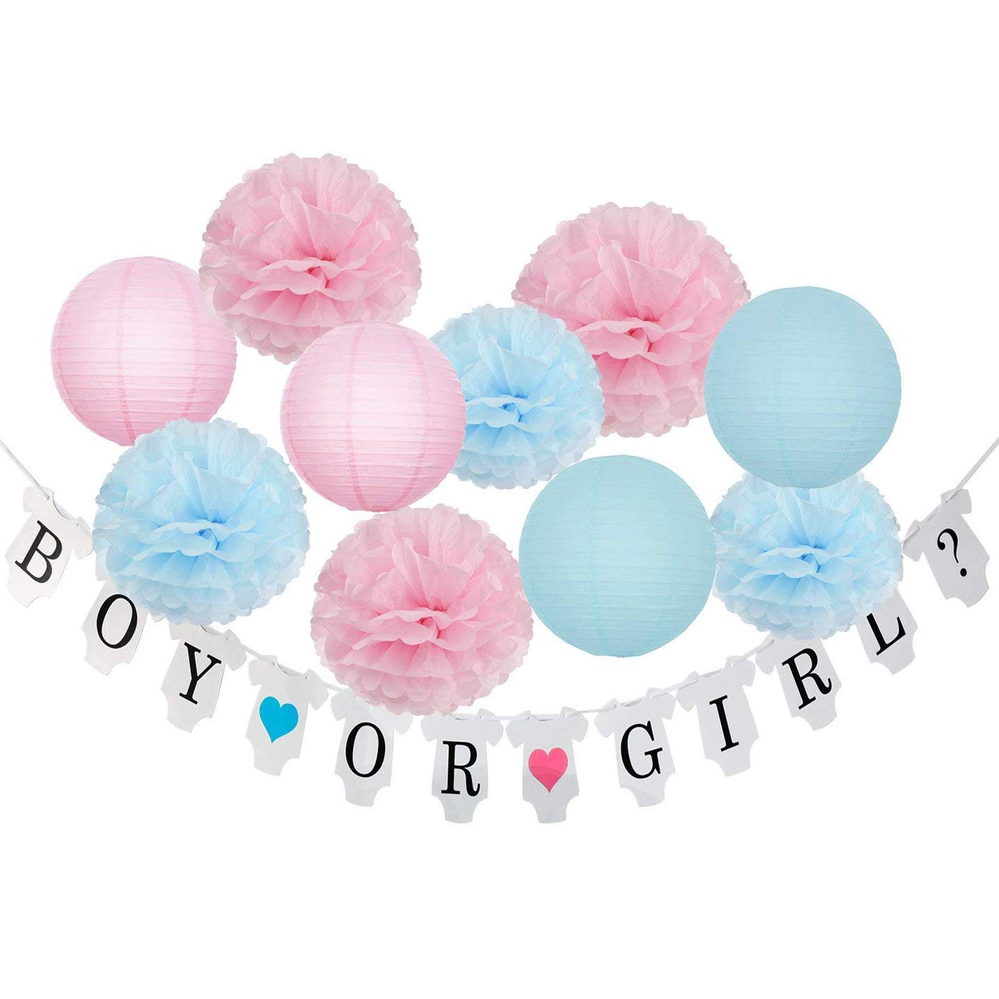 Amazon.com: Gender Reveal Party Supplies Gender Reveal Decorations ...