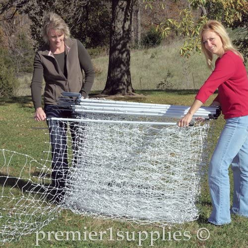 """Electric Netting Double Spike Posts 35/""""H x 164/'L Animal Containment Protection"""