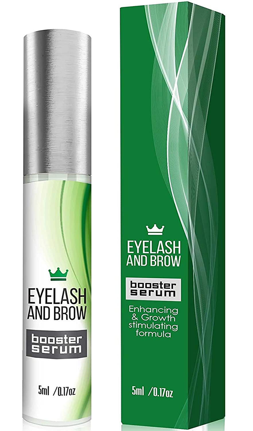 Natural Eyelash Growth Serum - Lash Booster & Eyebrow Enhancing Serum to Grow Thicker, Longer Lashes - USA-Made Eyelash Enhancer and Conditioner