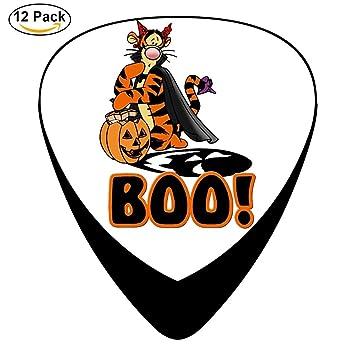 pimalico Classic Halloween Boo diseño Púas (12 unidades,) para guitarra eléctrica, guitarra acústica, mandolina, y Graves/negro: Amazon.es: Instrumentos ...