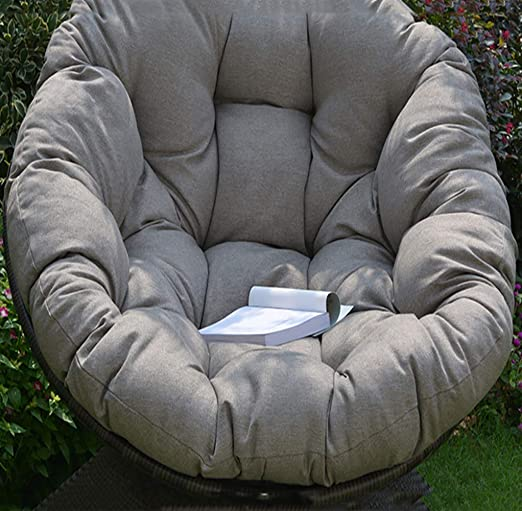 De Egg Chair.Amazon Com Round Swing Chair Cushion Fluffy Cotton Wicker