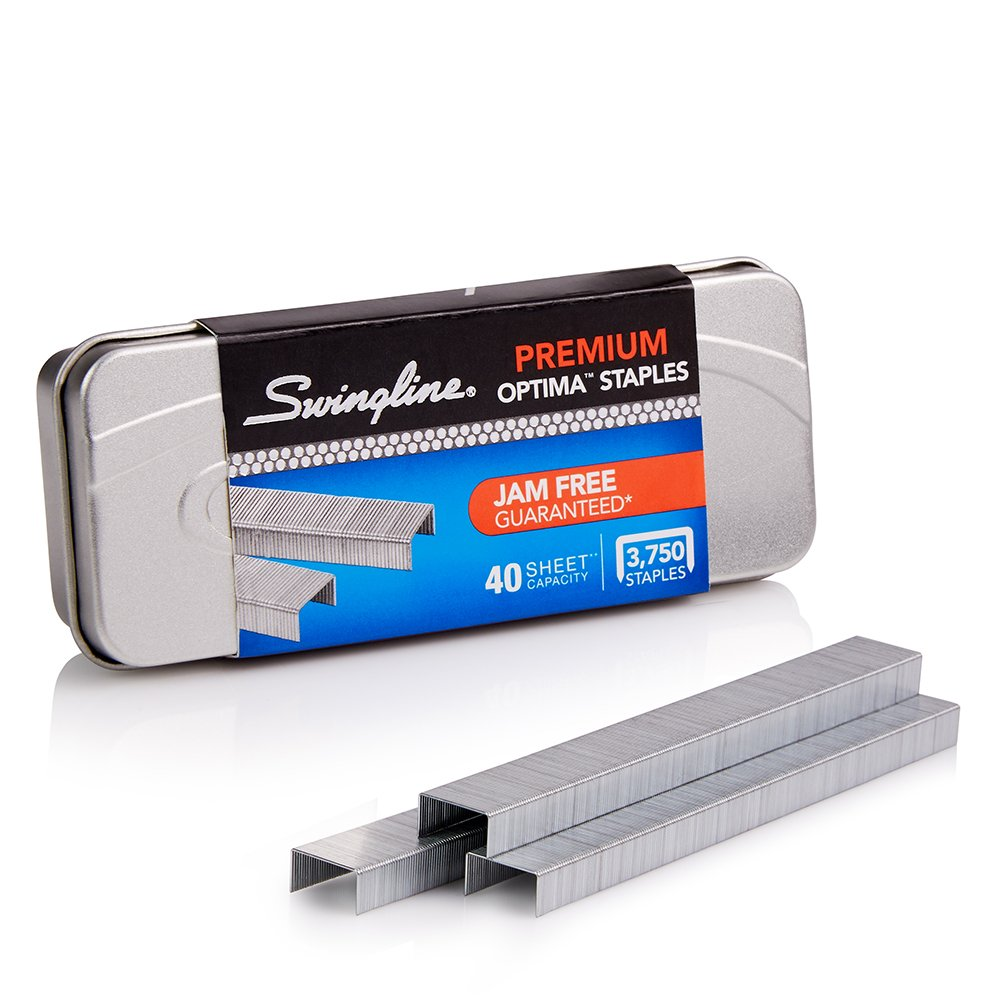 Swingline Optima Premium Staples, 0.25 Inch Leg Length, 45 Sheet Capacity, 3,750 Staples per Box, Silver (S7035556) ACCO Brands Canada Inc.