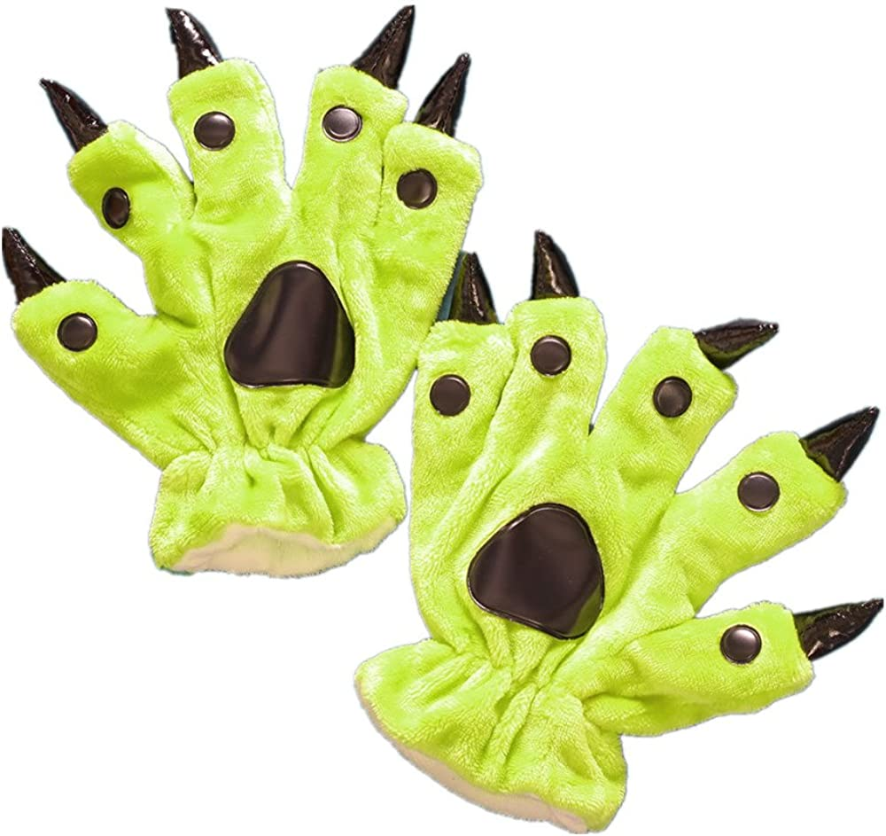 Unisex Paw Claw Winter Finger Gloves for Halloween Costume: Clothing
