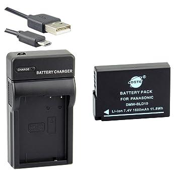DSTE DMW-BLD10F Li-ion Batería Traje y cargador micro USB ...