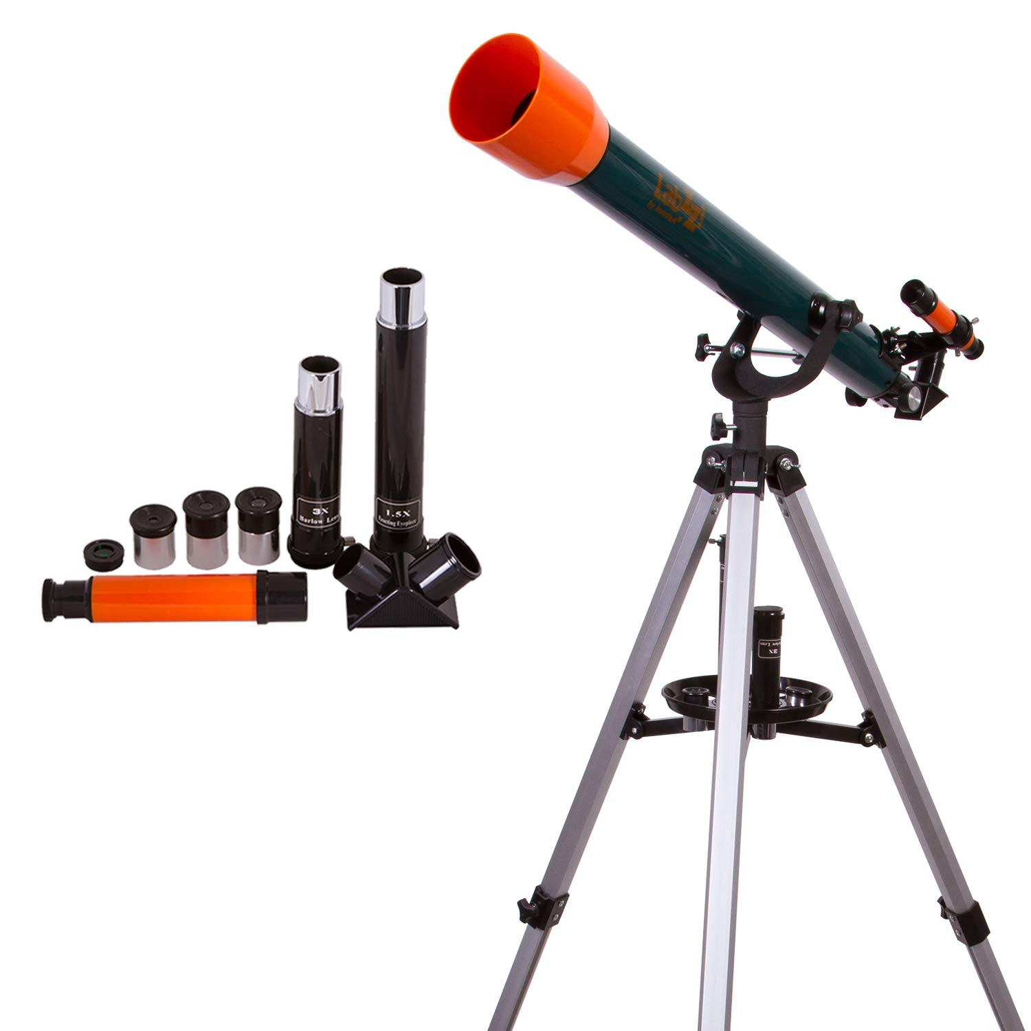 Levenhuk LabZZ T3 Refractor Telescope for Beginners with Up to 175x Magnification Power and Accessory Kit by Levenhuk