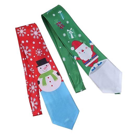 STOBOK 2pcs Corbata de Navidad Corbata Corbata Festivo Corbatas de ...