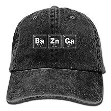 Men Women Bazinga Chemical Element Cotton Denim Baseball Hat Adjustable Dad Hat