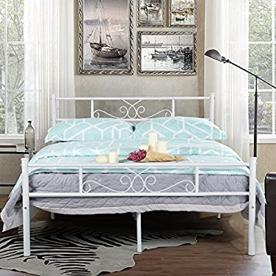 SimLife Metal Frame with Headboard and Footboard Mattress Foundation Platform Bed for Kids No Box Spring Needed from SimLife