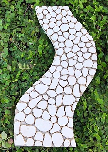 My Fairy Gardens Miniature - Mini Resin Cream Curved Stone Path Walkway - Mini Dollhouse Supply Expressions (Curved Walkway)