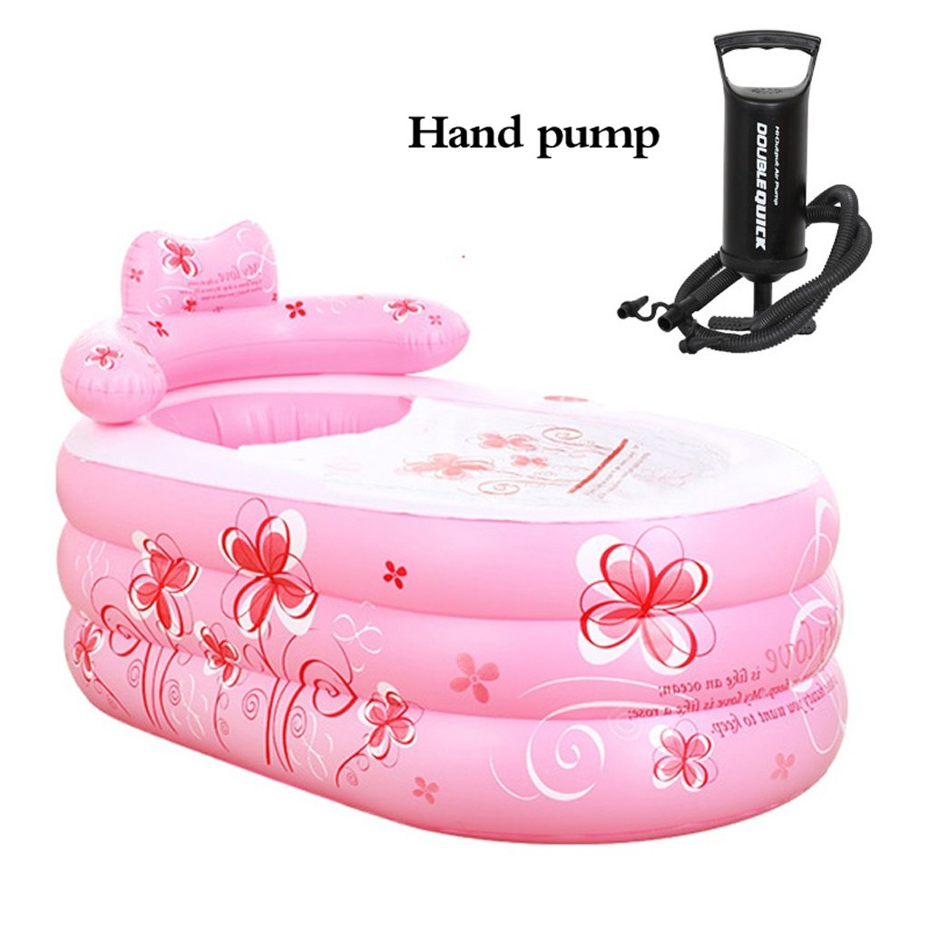 Bathtubs Freestanding Inflatable Thickened Adult Bath Fashionable Folding Bath tub Children's Collapsible Bubble Bath tub Relieve Fatigue by Bathtubs (Image #4)