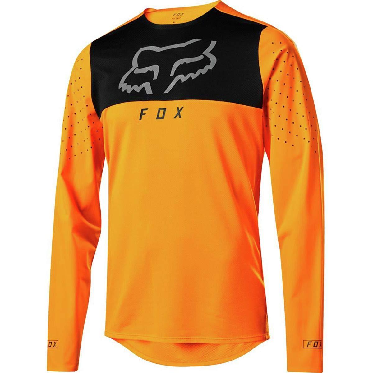 Fox Racing Flexair Delta Long-Sleeve Jersey - Men's Atomic Orange, XXL
