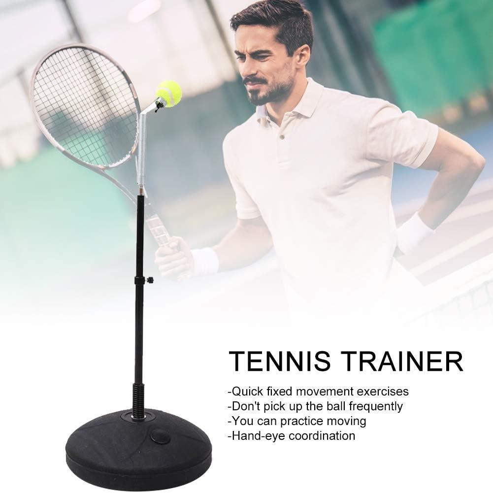 Self Training Tennis Ball Back Trainer Allenatore di Base per Pallina da Tennis da Allenamento con Corda Elastica in Gomma Luckystar4you Allenatore di Tennis Singolo Resistente