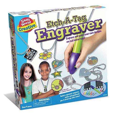 Small World Toys Creative - Etch-A-Tag Engraver Craft Kit B/O