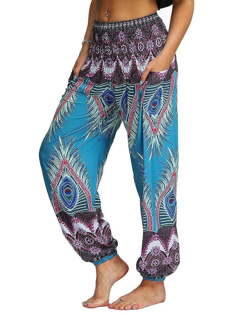 Prettyard Women Girl Loose Soft Bohemian Boho Belly Dance Trousers Harem Yoga Pant