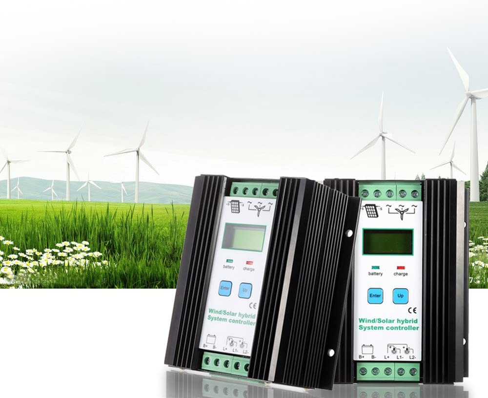 12v//24v Automatic Identification Household Lighting Street Lamp Protection Battery Controller 600w Wind + 400w Solar LCD Economic PWM Wind Solar Hybrid System Controller
