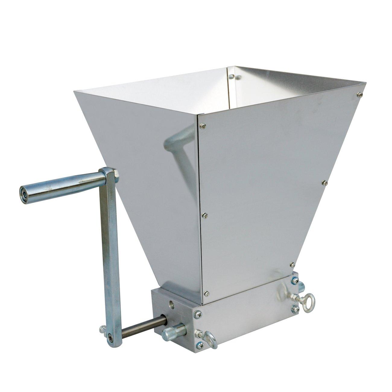 ECO-WORTHY Barley Crusher Malt Grain Mill 2-Roller Home Brewing Grain Cereal Crusher