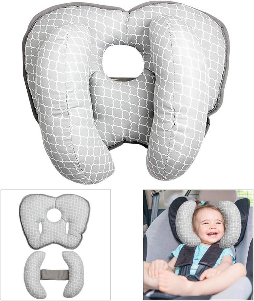Peque/ño Almohada para reposacabezas de beb/é Asiento para autom/óvil Reposacabezas Almohada para dormir de seguridad Forma de pl/átano Soporte para cuello de cabeza