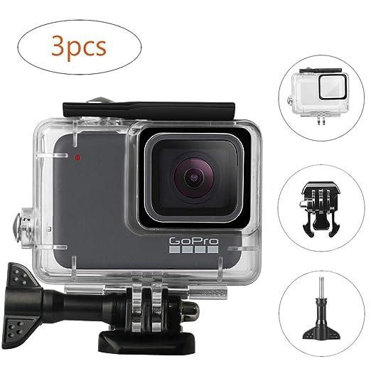 leegoal Carcasa Impermeable para GoPro Hero 7 Blanco/Plata, Dive ...