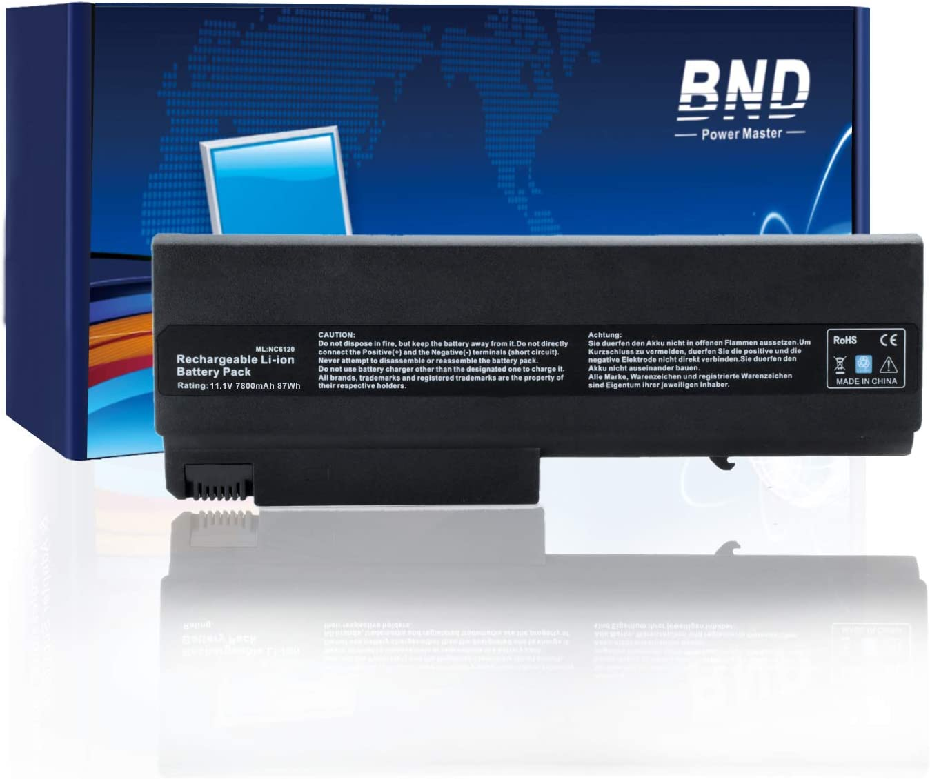 BND 7800mAh Laptop Battery for HP Compaq 6910p 6510b 6710b NC6400 NC6220 6715s NC6120 NX6110