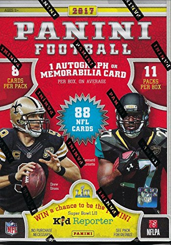 2017 Panini NFL Football Unopened Blaster Box of Packs with One Autograph or Memorabilia Card in EACH Box