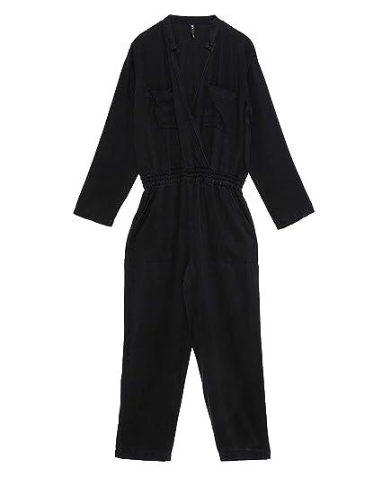 2c5ad6fb320 Zara Women s Long Jumpsuit with Pockets 6929 003 Black  Amazon.co.uk ...