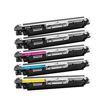 WonderTec HP CE310 A CE311 A CE312 A CE313 A 126 un cartucho de ...