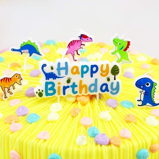 T-shin Juego de Velas de cumpleaños con diseño de Dinosaurio ...