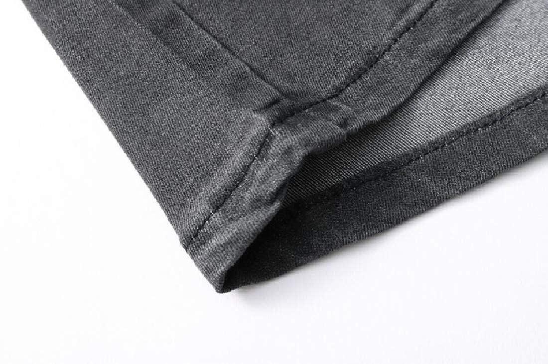 OTW Mens Drawstring Stretch Elastic Waist Straight Summer Denim Jeans Shorts