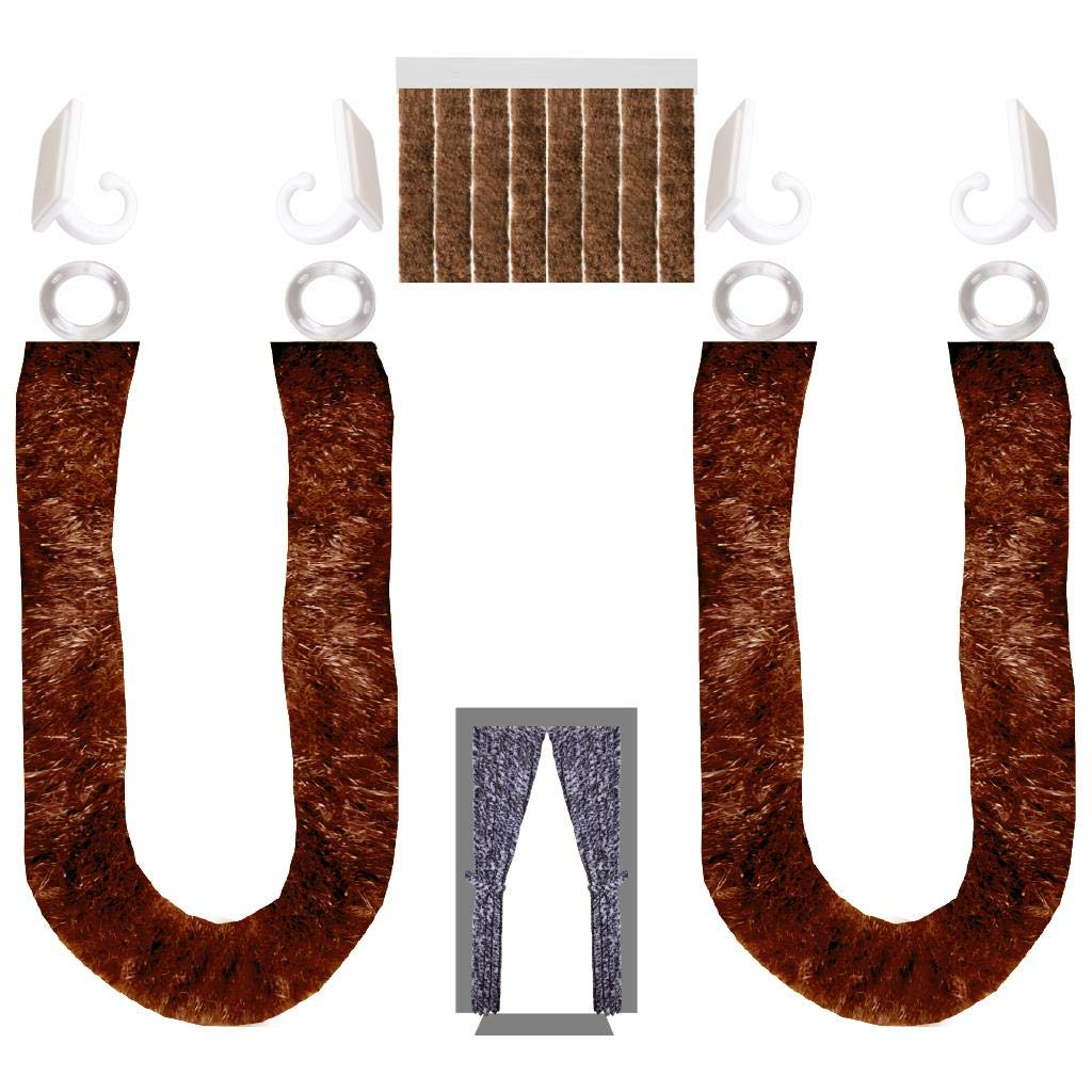 Arsvita Flausch-Vorhang (120x215cm) (120x215cm) (120x215cm) in der Farbe  Braun, vielen Größen erhältlich b83a53