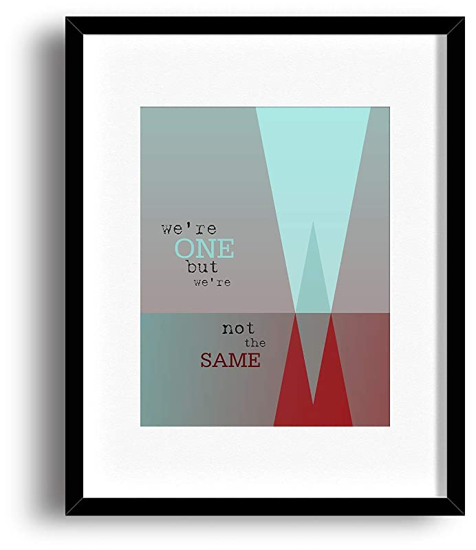 4 sizes U2 song lyric poster typography art print