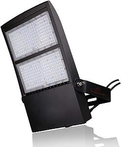 300 Watt NextGenII LED Flood Light– 40,000 Lumen – Super Efficiency 130 Lumen to Watt - 5000K Bright White - Replaces 1000W HID or Metal Halide - No Photocell - UL & DLC Premium - 10KV Surge