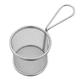 BESTONZON 2 piezas de acero inoxidable cesta de freír ...