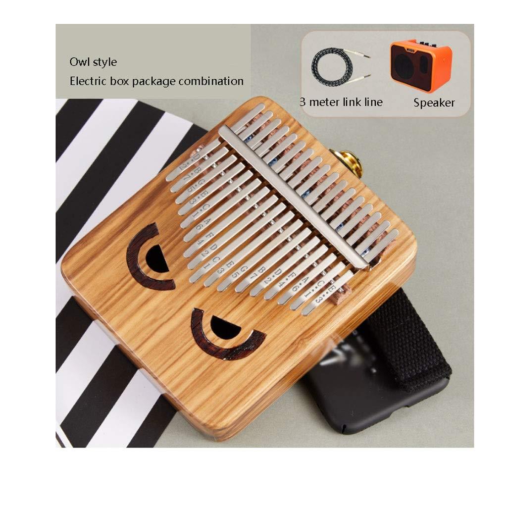 17 Key Finger Kalimba Mbira Sanza Thumb Piano Pocket Size Supporting Bag Marimba Wood Musical Instrument Marimbas (Size : B) by ZJY
