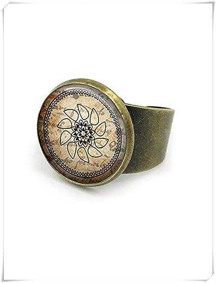 Yoga Ring, Yoga Ring, Yoga Gift, Yoga Mandala Ring, Mandala ...