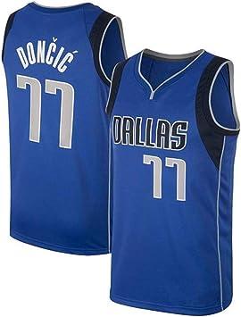 Hombre Ropa de Baloncesto Dallas Mavericks 77 Doncic Jersey Camiseta de Baloncesto