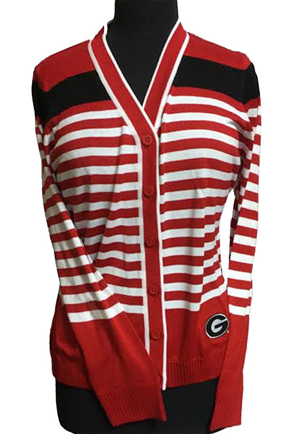 Emerson Street Women's Georgia Bulldogs Striped Cardigan