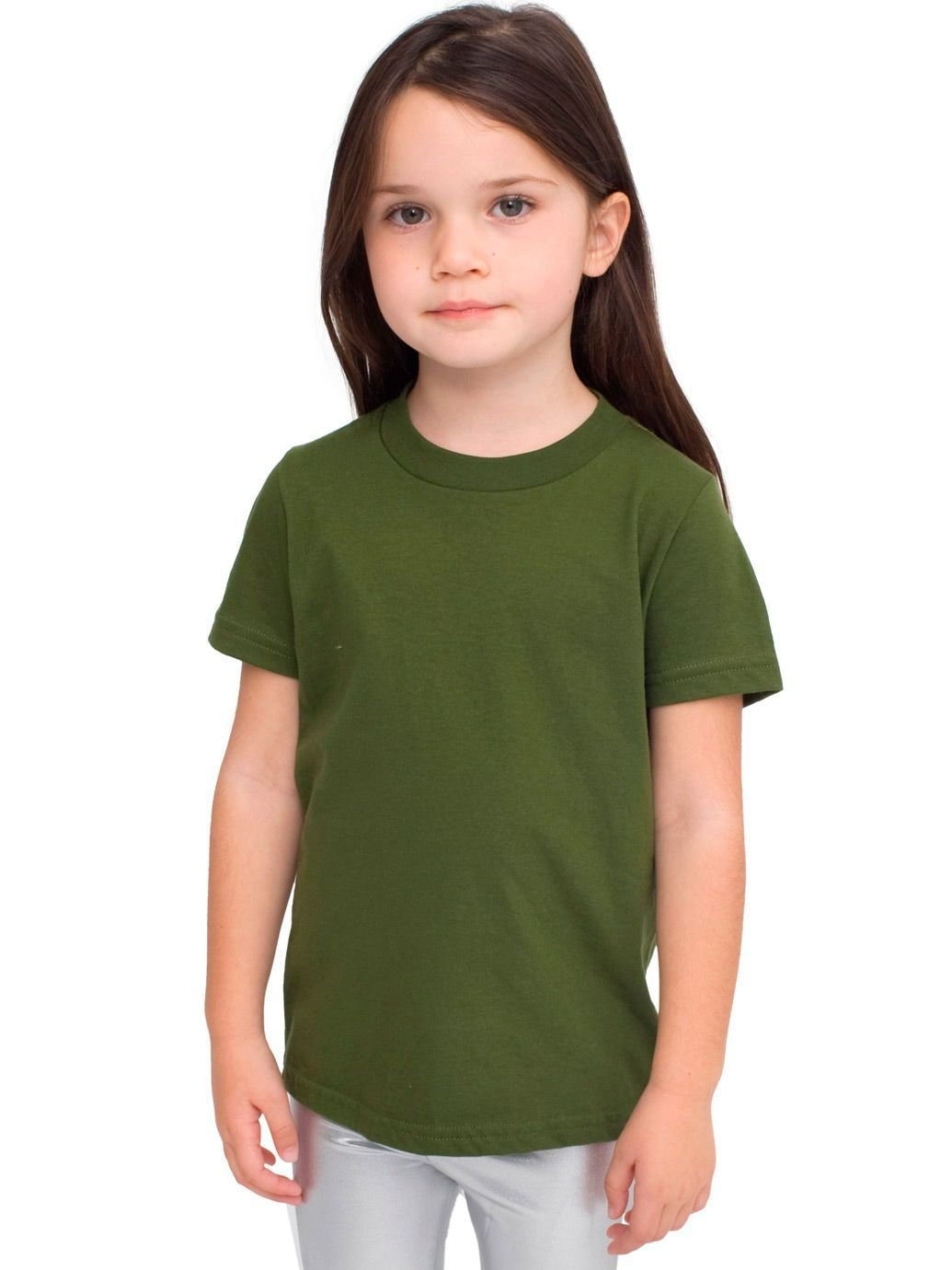 American Apparel Toddlers Fine Jersey Short-Sleeve T-Shirt (2105) -OLIVE -2T