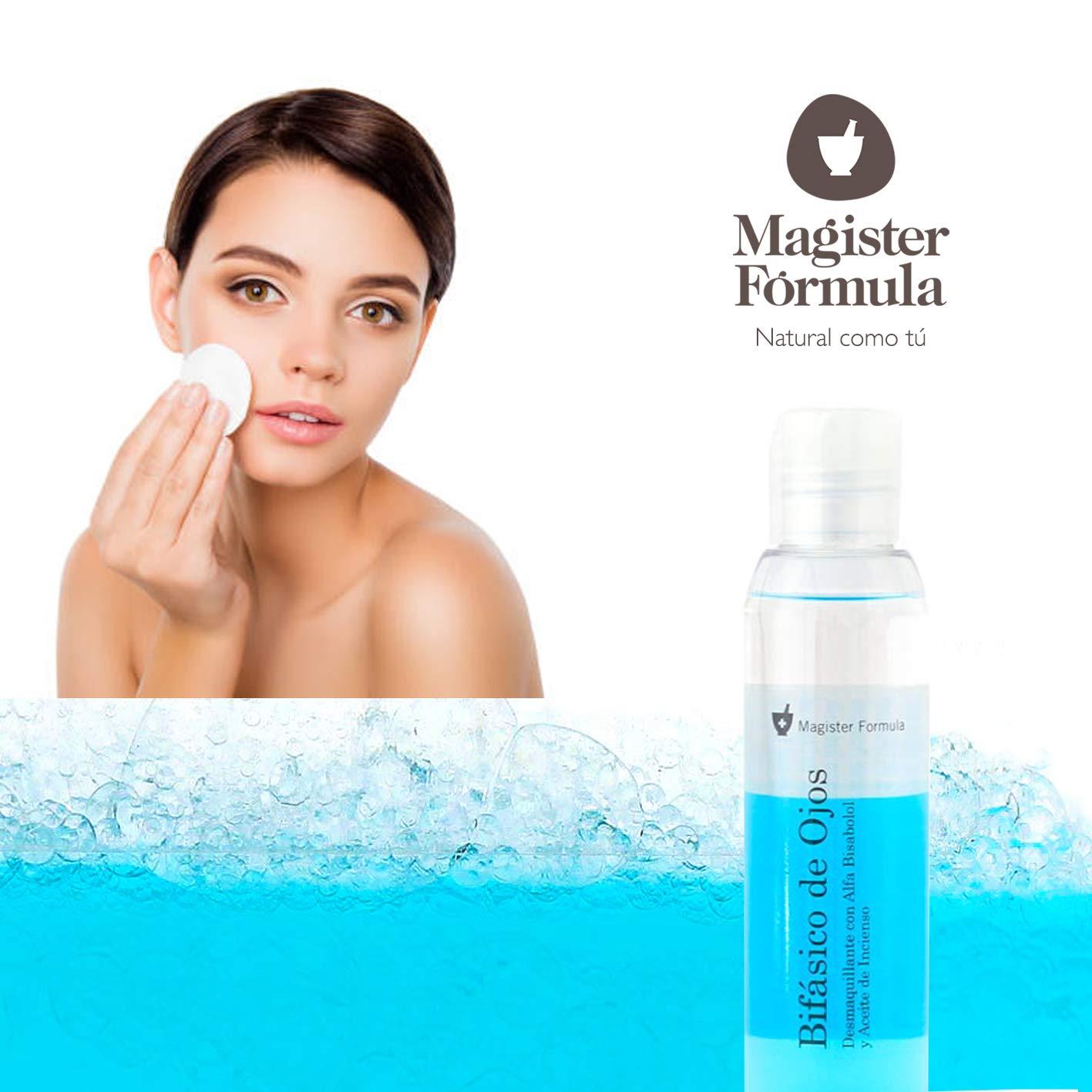 Desmaquillante de Ojos Bifásico 125ml con Manzanilla | Ojos, Labios y Pestañas | Elimina todo tipo de maquillaje, Waterproof | Limpieza Facial | Efecto ...