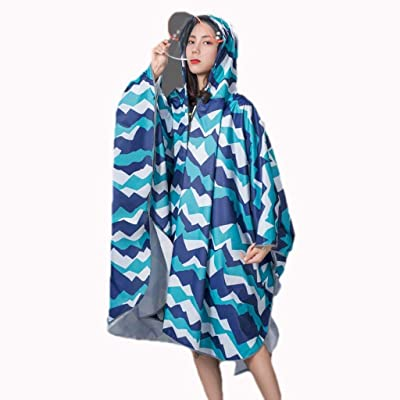 Abrigo Impermeable Moda Mujer Outdoor Impermeable Modernas Largo Trekking Individual Poncho Eléctrico Transparente Doble ala Impermeable Totalmente Reflectante (Color : C, Size : One Size): Ropa y accesorios