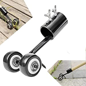 Yimeezuyu Weeds Snatcher Crack and Crevice Weeding Tool Weed Puller Household Helper Garden Tools Stand up Manual Weeder Hand Tool (Straight Hook)