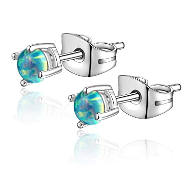 Amazon.com: Candyfancy - Pendientes de ópalo de 0.71 oz con ...