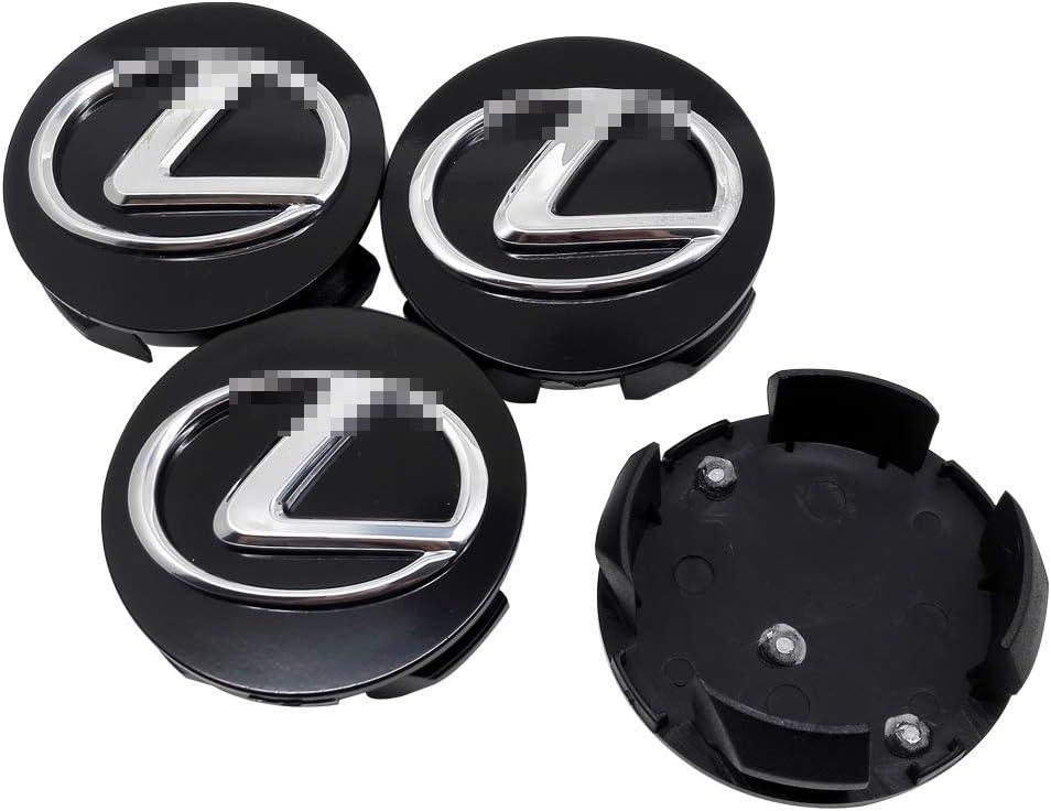 JTAccord Car Wheel Center Hub Caps for Lexus Logo NX RX330 RX300 GS300 IS250 IS200 CT200H GX470 CT 200H,Black,61.5mm,4pcs//set
