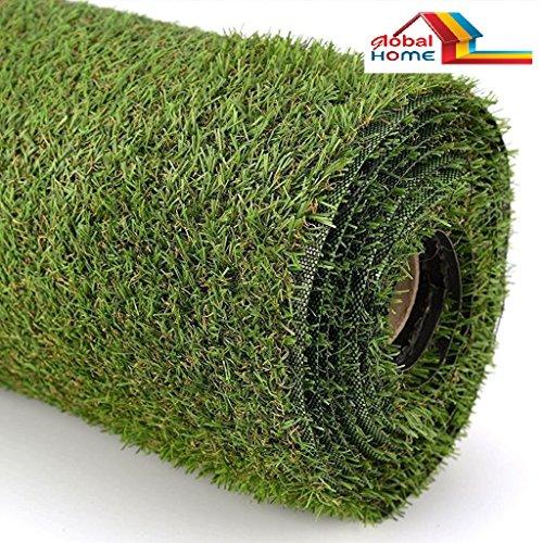 GlobalHome Polyester Blend Artificial Grass Carpet for Balcony, Garden, Floor, Doormat (2 X 6 feet)