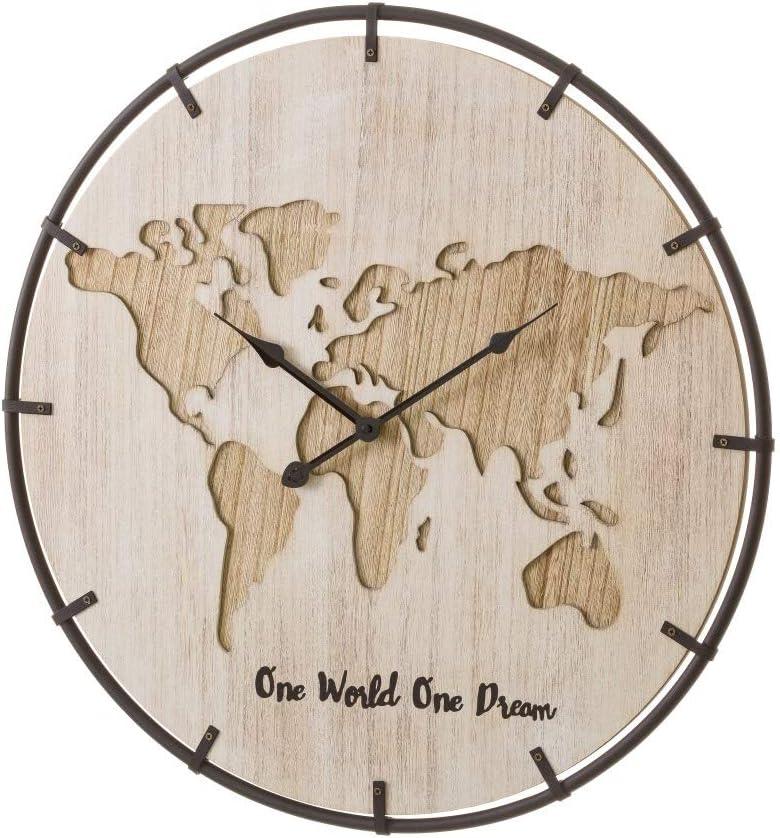Reloj de Pared de Madera marrón rústico para salón Bretaña - LOLAhome
