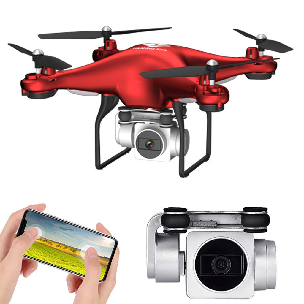 SANGNI 2.4Ghz 5MP HD CameraWiFi FPV Live 6 axis Adjustable Wide Angle Quadcopter,Drone with One Key Automatic Return (red) by SANGNI