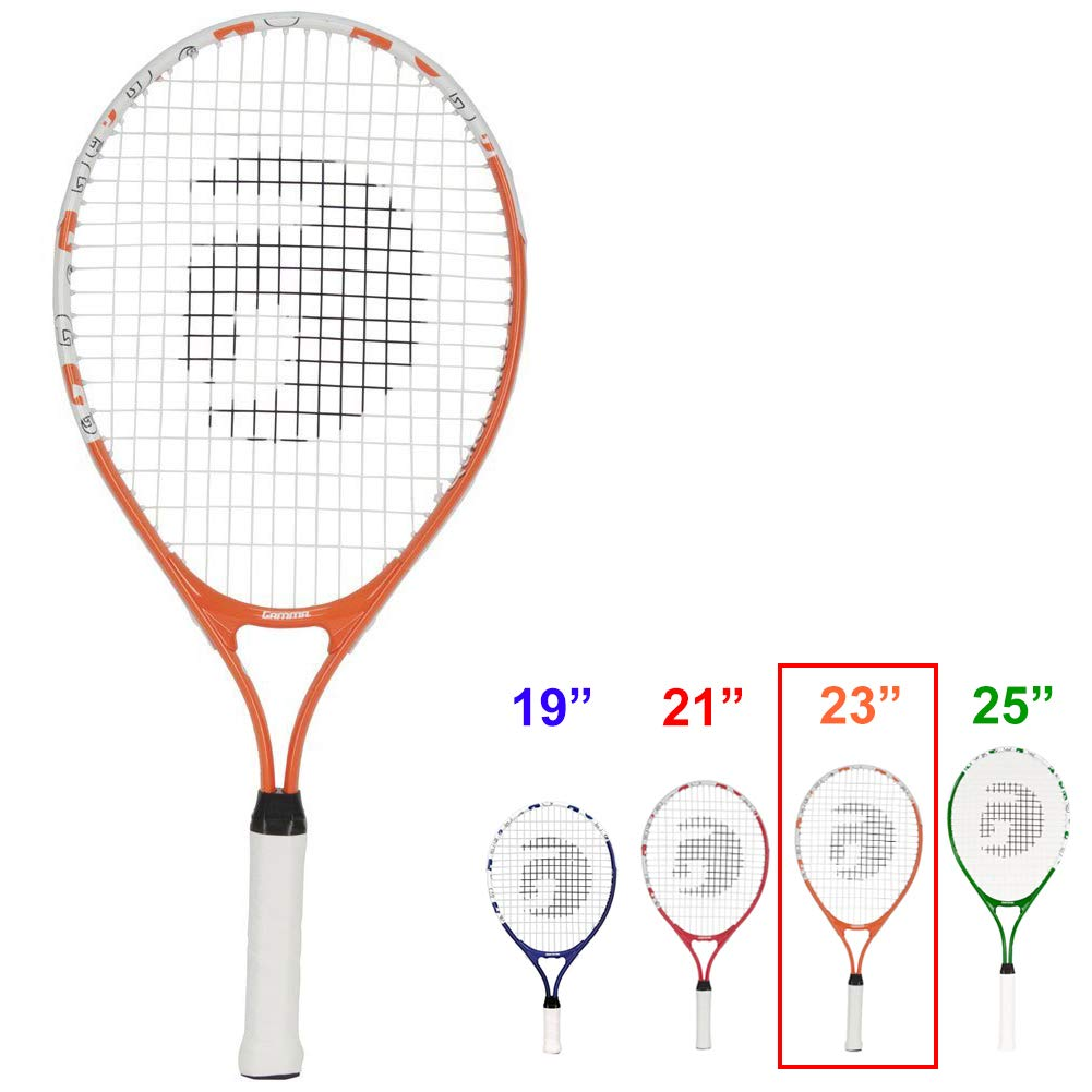 Quick Kids 25 Inch Tennis Racket Prestrung Youth Tennis Racquets for Boys and Girls RGJQK-24 Gamma Sports Junior Tennis Racquet