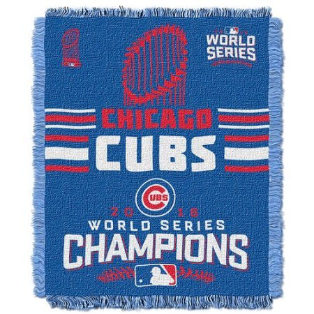 Tapestry Series Blanket (The Northwest Company Chicago Cubs Blanket - Woven Tapestry - 2016 World Series Champions)